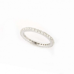 18k White Gold Full Diamond Eternity Ring 0.92ct G/H VS